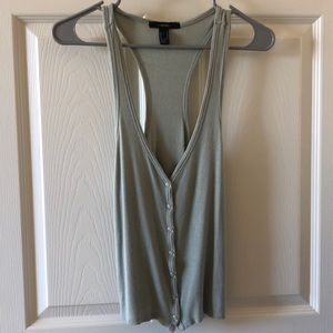 Relaxed Button Tank Top